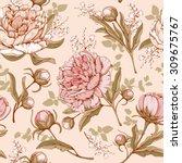 vintage luxury seamless pattern ... | Shutterstock .eps vector #309675767