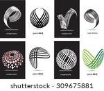 abstract logo design.logo...   Shutterstock .eps vector #309675881