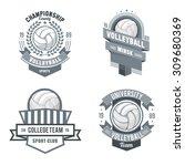 vector set badges logos... | Shutterstock .eps vector #309680369