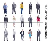 diverse people happiness... | Shutterstock . vector #309684641