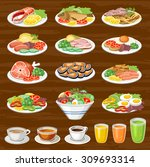 set of snack. lunches. food.... | Shutterstock .eps vector #309693314