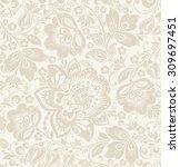 vector floral vintage rustic... | Shutterstock .eps vector #309697451