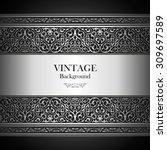 vintage background  islamic...   Shutterstock .eps vector #309697589