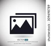 Stock vector photograph vector icon 309698789