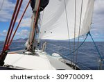 Sail Of A Sailing Boat Against...