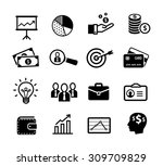 business icons  productivity ... | Shutterstock .eps vector #309709829