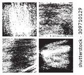 vector grunge textures set. | Shutterstock .eps vector #309710129