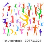 hurray team   isolated over... | Shutterstock .eps vector #309711329