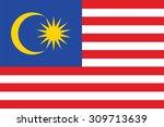 flag of malaysia. vector... | Shutterstock .eps vector #309713639
