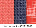 set of 3 abstract patterns.... | Shutterstock .eps vector #309717089