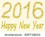 happy new year 2016   the... | Shutterstock . vector #309718031