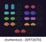 simple colored badges with 3... | Shutterstock .eps vector #309726701