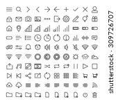 100 mobile user interface icons | Shutterstock .eps vector #309726707