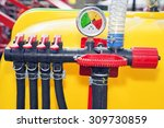 device on tractor for watering  ... | Shutterstock . vector #309730859