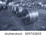 cold rolled steel coils in...   Shutterstock . vector #309742835