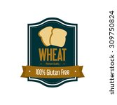 abstract wheat label on a white ... | Shutterstock .eps vector #309750824