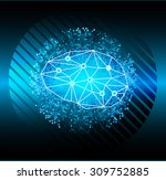 dark blue color light abstract... | Shutterstock .eps vector #309752885