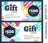 vector creative gift voucher or ... | Shutterstock .eps vector #309754775