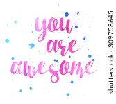 you are awesome inspire... | Shutterstock . vector #309758645
