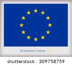 flag of eu.european union... | Shutterstock .eps vector #309758759
