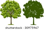 vector illustration of tree and ...   Shutterstock .eps vector #30975967