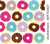 cute multicolored pattern with... | Shutterstock .eps vector #309761837