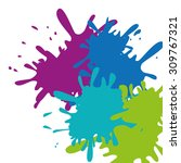 paint splash digital design ... | Shutterstock .eps vector #309767321