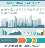 industrial factory infographics ...