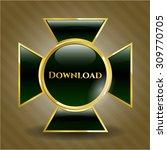 download gold shiny badge | Shutterstock .eps vector #309770705