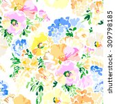 pastel beautiful floral  ... | Shutterstock .eps vector #309798185