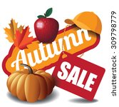 Autumn Sale Icon. Eps 10 Vecto...