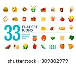 flat set icons. fast and... | Shutterstock .eps vector #309802979
