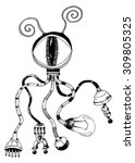 Illustration Mechanical Octopu...
