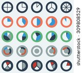 segment pie chart icon set ... | Shutterstock .eps vector #309808529
