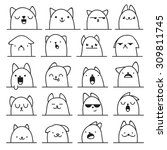 Set Of 20 Different Doodle...