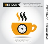 cup web icon  flat  vector. cup ... | Shutterstock .eps vector #309812369