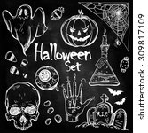 Set Of Different Halloween...