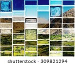 the graphic on tile    Shutterstock . vector #309821294