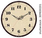 grunge old vintage clock face  | Shutterstock .eps vector #309830201