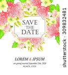 wedding invitation cards with... | Shutterstock .eps vector #309832481