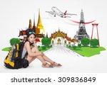 thailand travel concept  | Shutterstock . vector #309836849