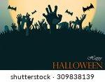 Zombie Hand Halloween Greeting...