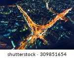a massive highway intersection... | Shutterstock . vector #309851654