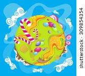 sweet candy world | Shutterstock .eps vector #309854354