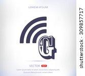 letter g  icon  | Shutterstock .eps vector #309857717