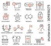vector set of 16 icons related... | Shutterstock .eps vector #309858275