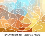 abstract geometric mosaic... | Shutterstock .eps vector #309887501