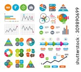 business data pie charts graphs.... | Shutterstock .eps vector #309890699