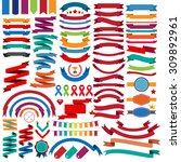 collection of retro ribbons and ... | Shutterstock .eps vector #309892961