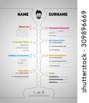 minimalist cv  resume template... | Shutterstock .eps vector #309896669